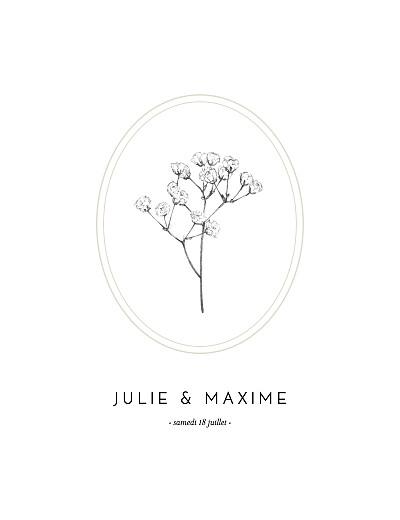 Faire-part de mariage Joli brin (portrait) beige finition