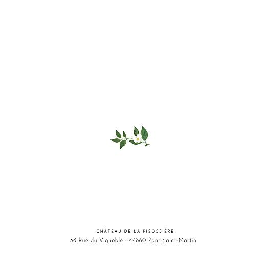 Faire-part de mariage Lettres fleuries blanc - Page 2