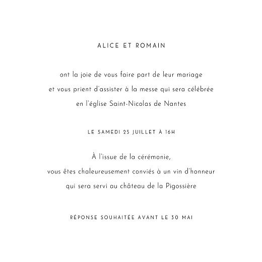 Faire-part de mariage Lettres fleuries blanc - Page 3
