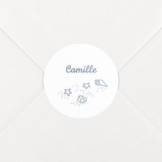 Stickers Naissance Première vague bleu - Vue 2