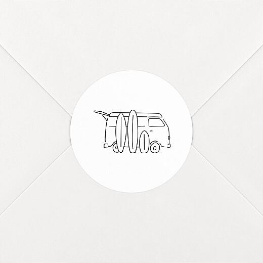 Stickers pour enveloppes naissance Première vague noir - Vue 2
