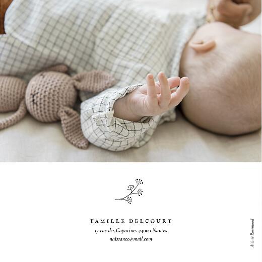 Faire-part de naissance Petite gravure (4 pages) blanc - Page 4