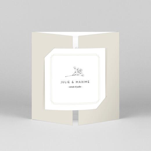 Faire-part de mariage Joli brin (fenêtre) beige - Vue 1