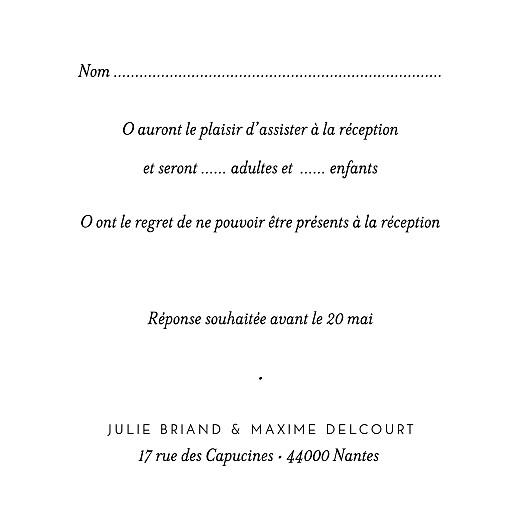 Carton réponse mariage Joli brin bleu - Page 2
