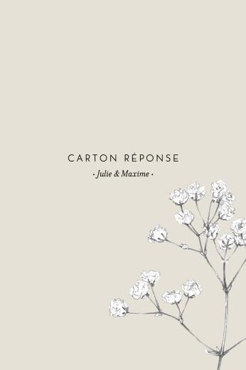 Carton réponse mariage Joli brin (portrait) beige