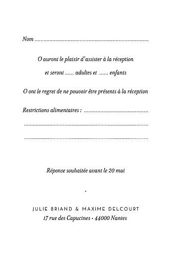 Carton réponse mariage Joli brin (portrait) beige - Page 2