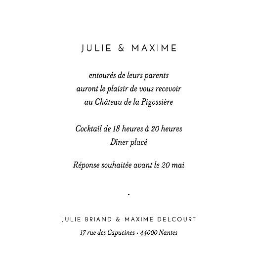 Carton d'invitation mariage Joli brin beige - Page 2
