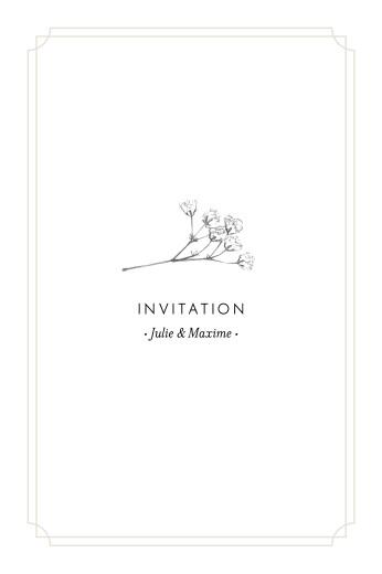 Carton d'invitation mariage Joli brin (portrait) beige