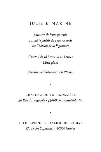 Carton d'invitation mariage Joli brin (portrait) beige - Page 2