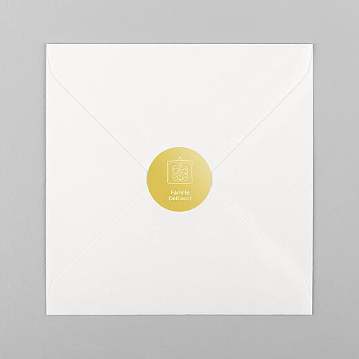 Stickers pour enveloppes naissance Mon histoire en pictos jaune - Vue 1