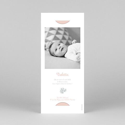 Faire-part de naissance Jolis coraux (marque-page) rose - Vue 4