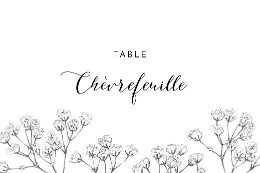Marque-table mariage Joli brin beige