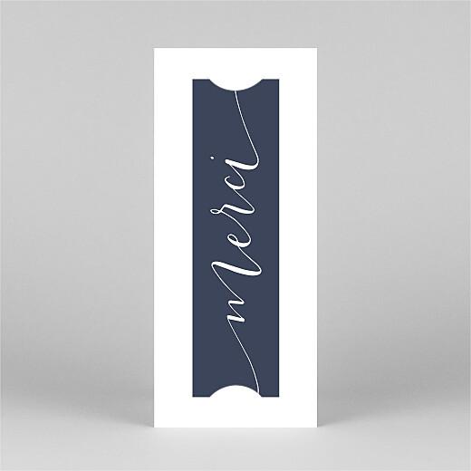Carte de remerciement mariage Swing (marque-page) bleu marine - Vue 2