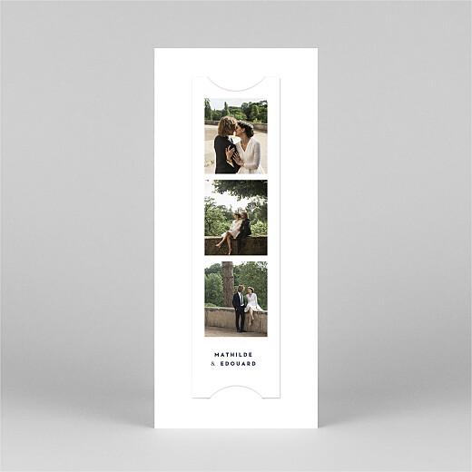 Carte de remerciement mariage Swing (marque-page) bleu marine - Vue 3