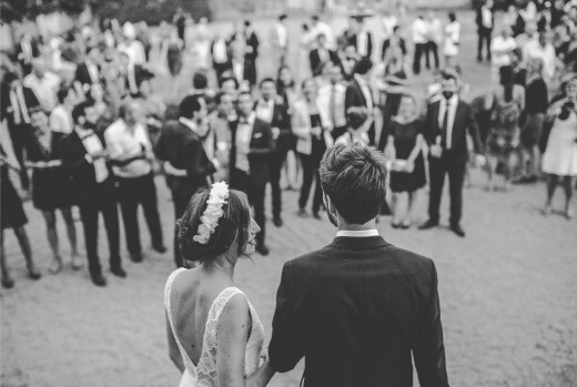 Carte de remerciement mariage Joli brin (4 pages) beige