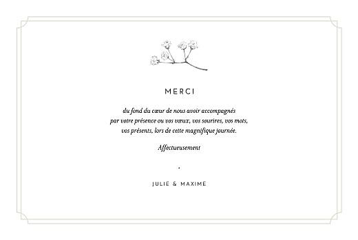 Carte de remerciement mariage Joli brin (4 pages) beige - Page 3