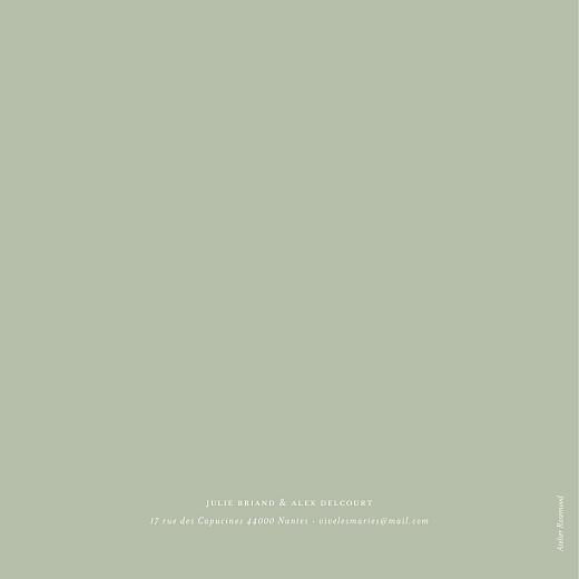 Faire-part de mariage Jeune pousse (dorure) 4 pages vert - Page 4