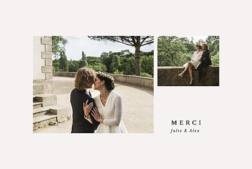 Carte de remerciement mariage Jeune pousse (dorure) beige