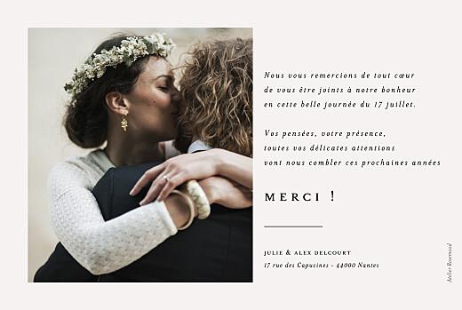 Carte de remerciement mariage Jeune pousse (dorure) beige - Page 2