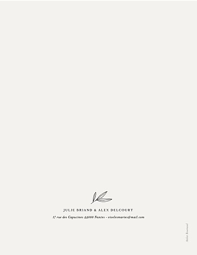 Faire-part de mariage Jeune pousse (dorure) (portrait) beige - Page 2