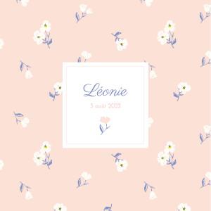 Faire-part de naissance Blossom (4 pages) rose