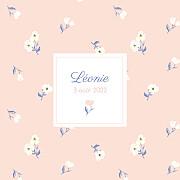 Faire-part de naissance Blossom (triptyque) rose page 1