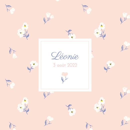 Faire-part de naissance Blossom (triptyque) rose