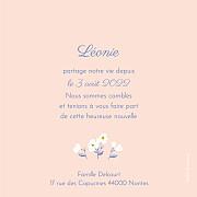 Faire-part de naissance Blossom (triptyque) rose page 5