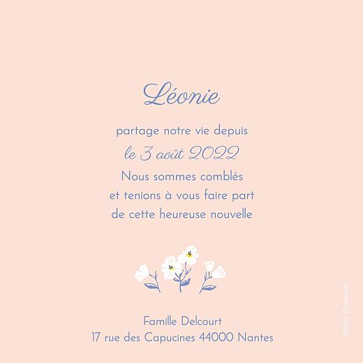 Faire-part de naissance Blossom (triptyque) rose - Page 5