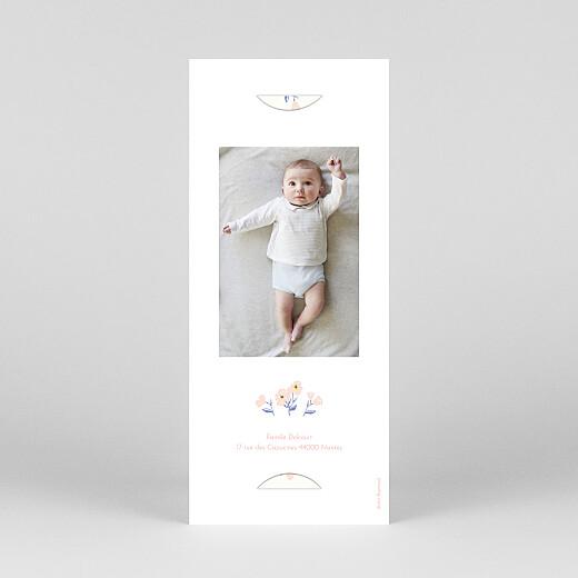 Faire-part de naissance Blossom (marque-page) rose - Vue 4