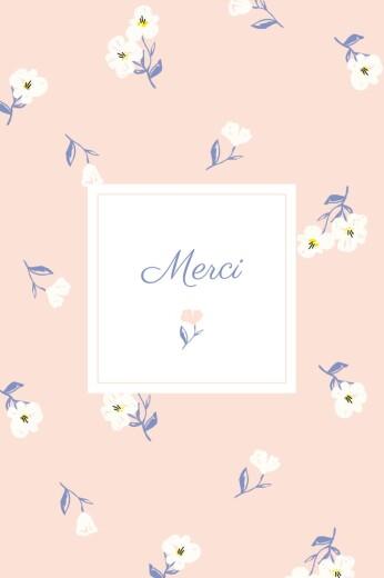 Carte de remerciement Blossom rose