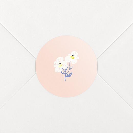 Stickers pour enveloppes naissance Blossom rose - Vue 2