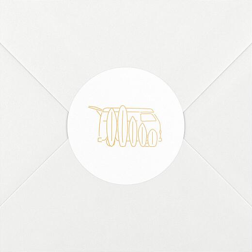 Stickers pour enveloppes naissance Première vague mangue - Vue 2