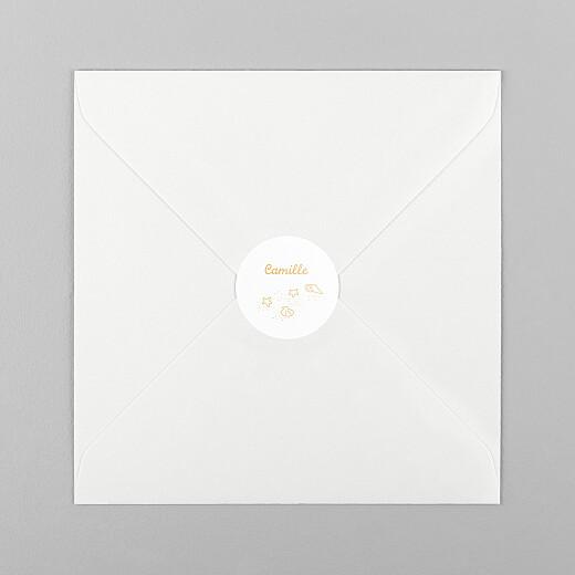 Stickers pour enveloppes naissance Première vague mangue - Vue 1