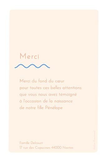 Carte de remerciement Vaguelette poudre - Page 2