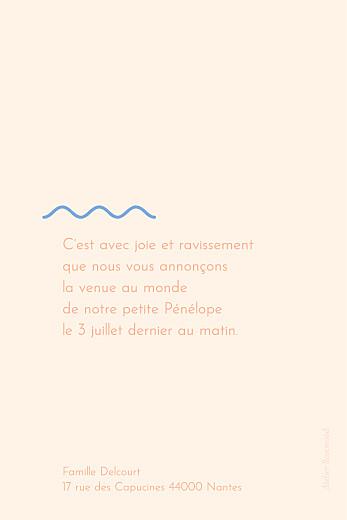 Faire-part de naissance Vaguelette (petit) poudre - Page 2