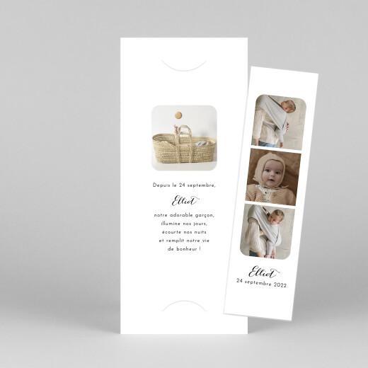 Faire-part de naissance Tendre innocence (marque-page) blanc - Vue 1