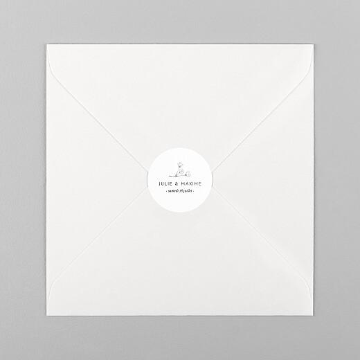 Stickers pour enveloppes mariage Joli brin blanc - Vue 1