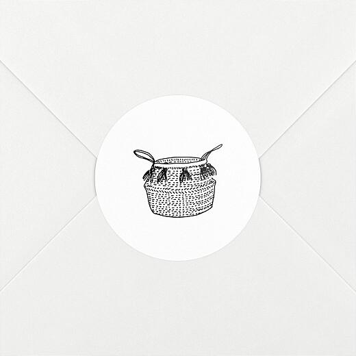 Stickers pour enveloppes naissance Berceau fleuri 1 - Vue 2
