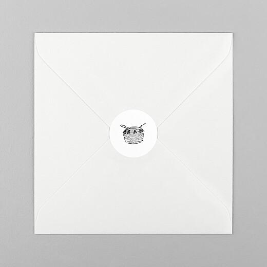 Stickers pour enveloppes naissance Berceau fleuri 1 - Vue 1