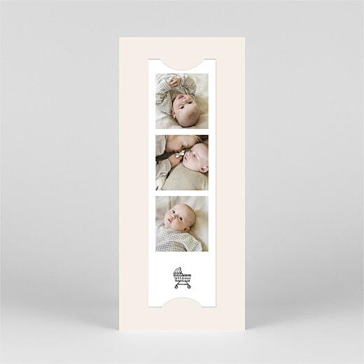Faire-part de naissance Ton petit univers (marque-page) blanc - Vue 3