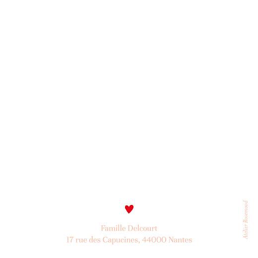 Carte de remerciement Flœurs rouge - Page 2