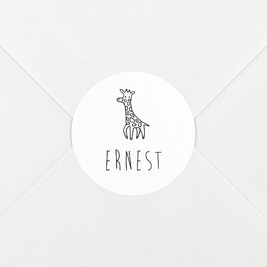 Stickers pour enveloppes naissance Ton petit univers noir et blanc - Vue 2