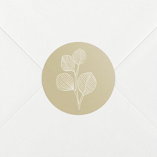 Stickers pour enveloppes naissance Envolée d'eucalyptus beige - Vue 2