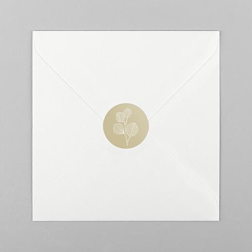 Stickers pour enveloppes naissance Envolée d'eucalyptus beige - Vue 1