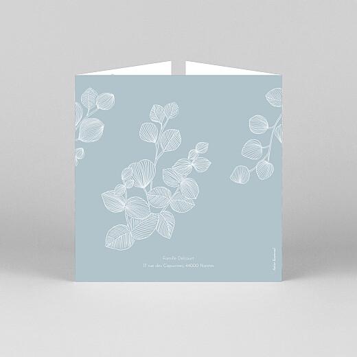 Faire-part de naissance Envolée d'eucalyptus (fenêtre) bleu - Vue 3
