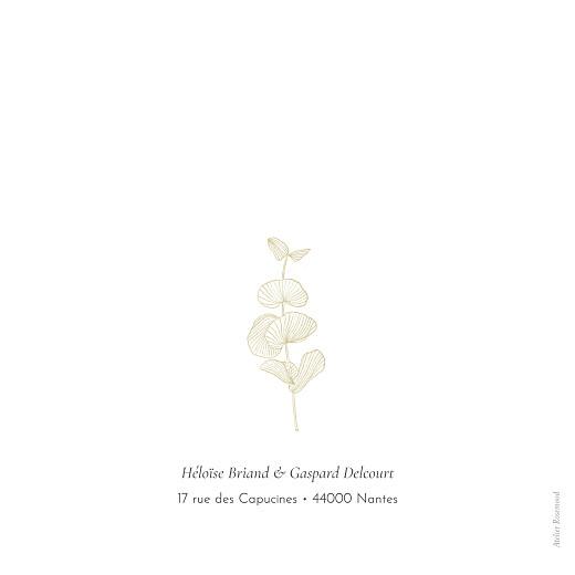 Faire-part de mariage Envolée d'eucalyptus ocre - Page 4