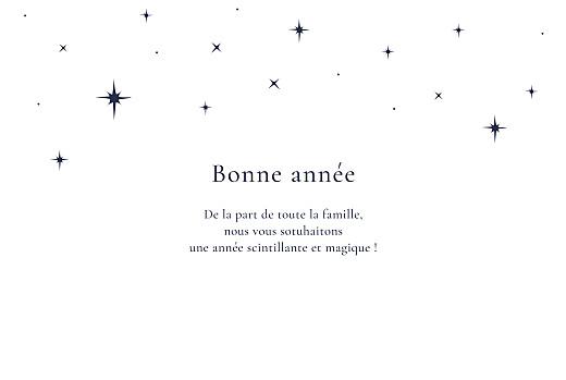 Carte de voeux Sous les étoiles (dorure) blanc - Page 3
