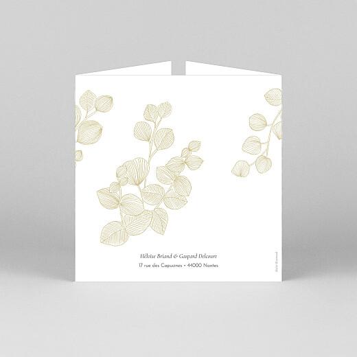 Faire-part de mariage Envolée d'eucalyptus (fenêtre) ocre - Vue 3