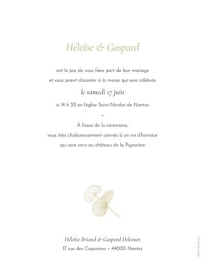Faire-part de mariage Envolée d'eucalyptus ocre - Page 2